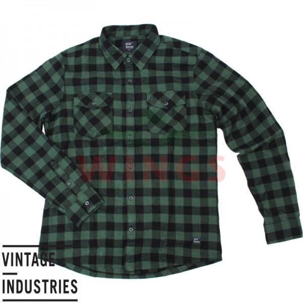 Vintage Harley shirt green check