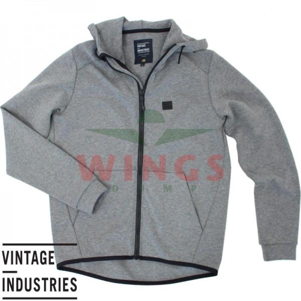 Vintage Industries Albury hooded zip sweater grey