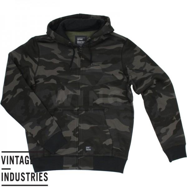 Vintage Industries Redstone zip sweater dark camo