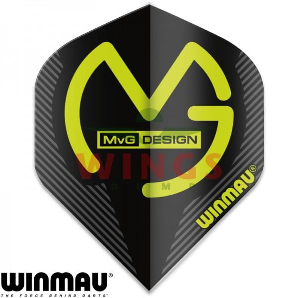 Flights Winmau Michael van Gerwen logo original zwart