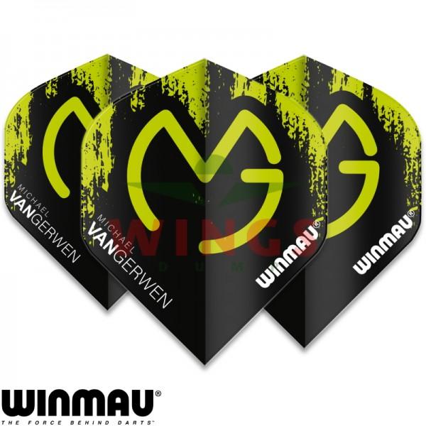Flights Winmau Michael van Gerwen logo zwart-groen