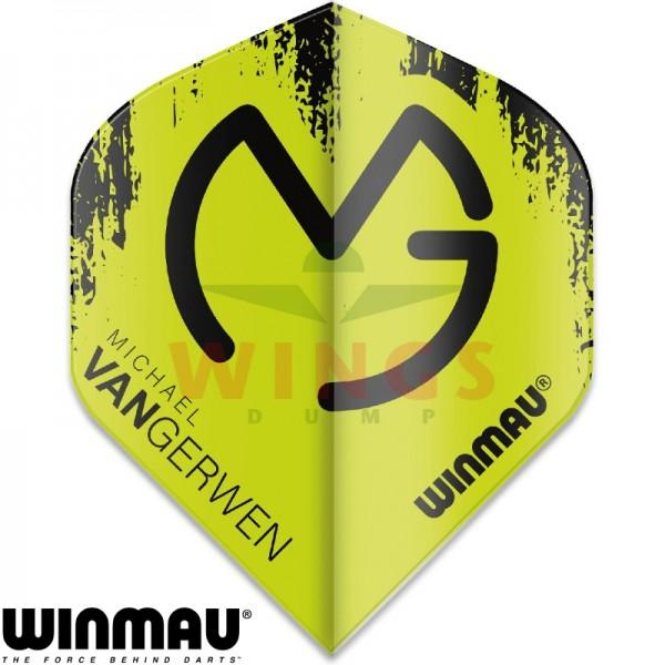 Flights Winmau Michael van Gerwen logo groen-zwart