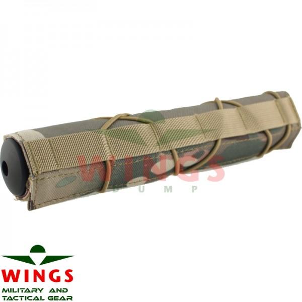 Suppressor cover sleeve 22 cm. multicamo