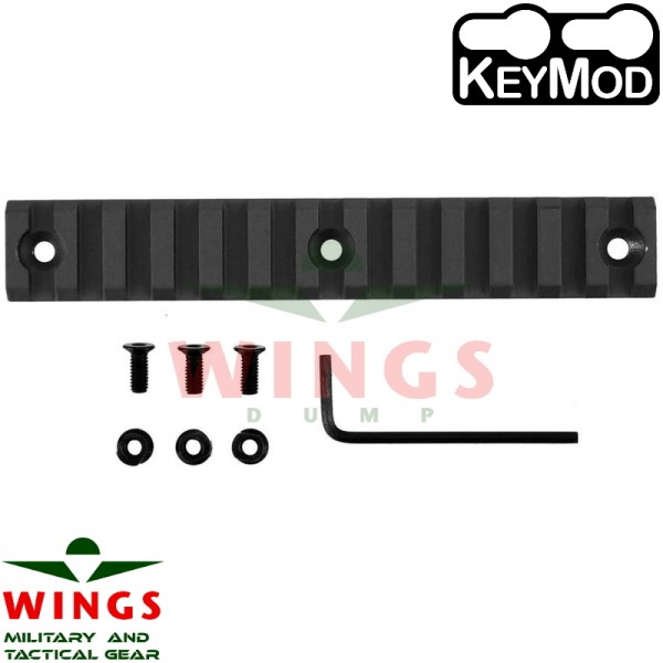 Keymod rail metaal 135mm 13 slots
