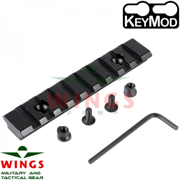Keymod rail metaal 102mm 9 slots