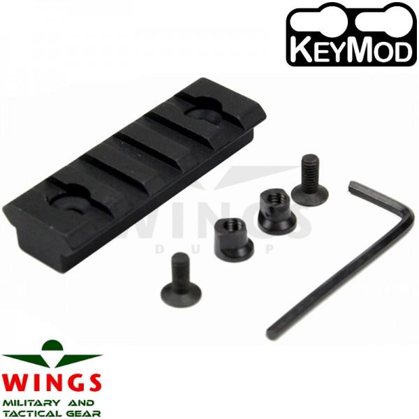 Keymod rail metaal 56mm 5 slots