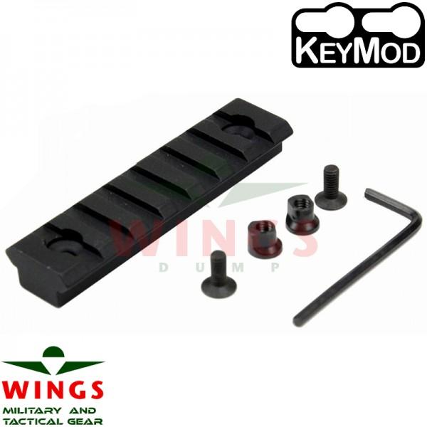 Keymod rail metaal 75mm 7 slots