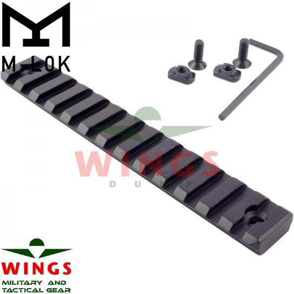 M-lok rail metaal 135mm 13 slots