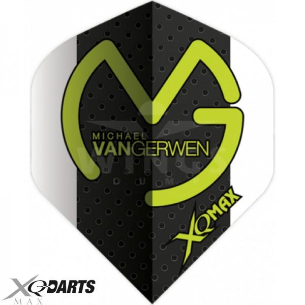 Flights Michael van Gerwen zwart-wit logo groen
