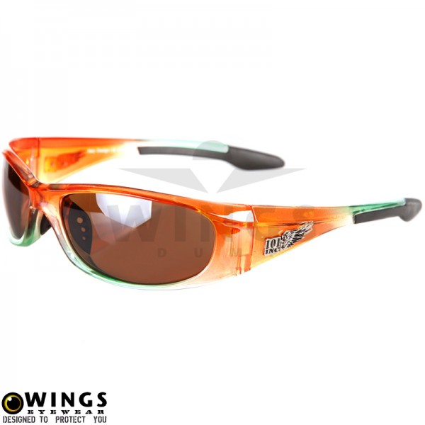 Zonnebril biker orange frame met brown lenses