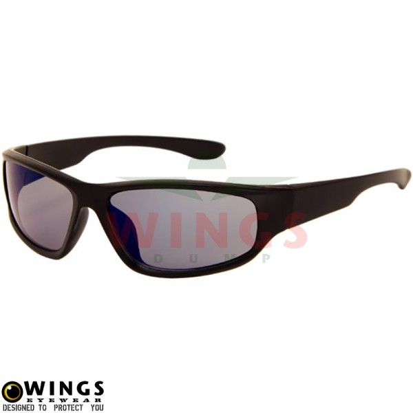 Zonnebril biker matt black / purple
