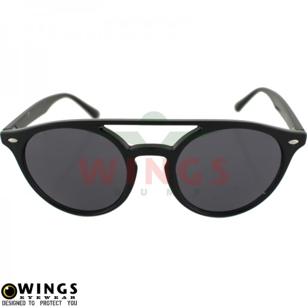 Zonnebril bridge zwart / grey lens