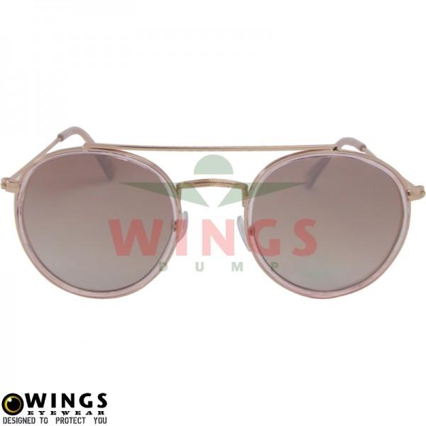 Zonnebril Aviator shiny gold / pink