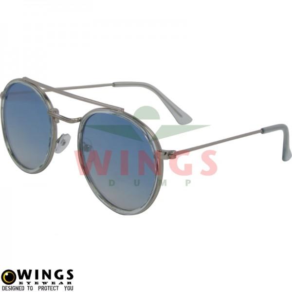Zonnebril Aviator shiny silver / blue