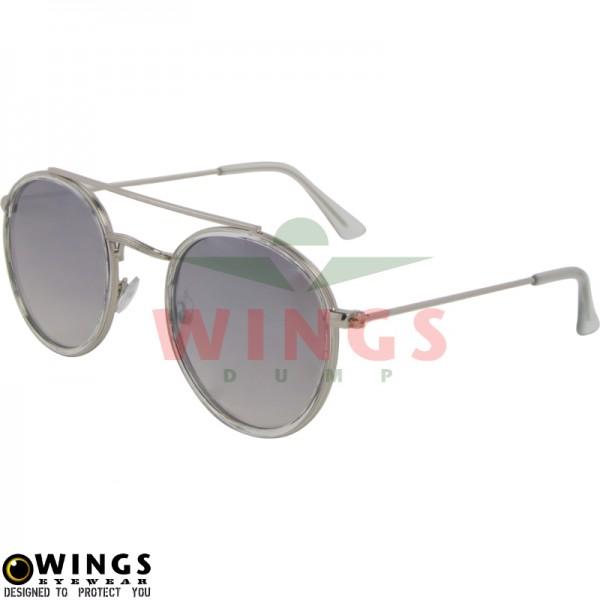 Zonnebril Aviator shiny silver / grey