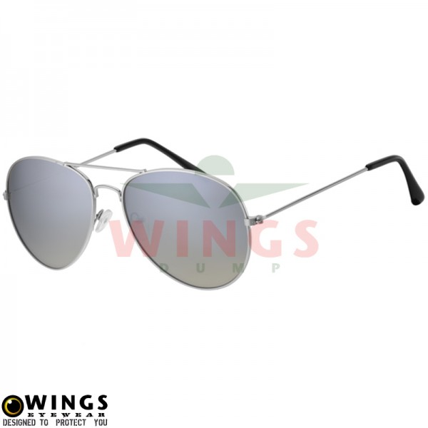 Zonnebril Pilot silver mirror/grey