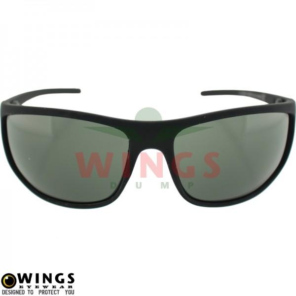 Zonnebril Sports rounded zwart / groen