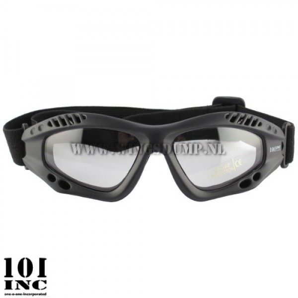 Tactical bril zwart clear lenses