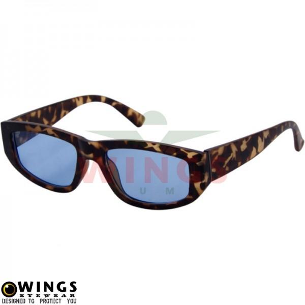 Zonnebril trendy leopard print / blue