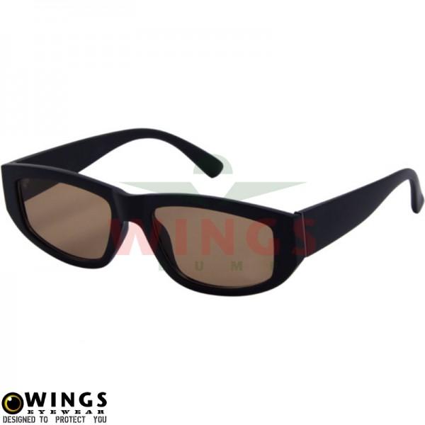 Zonnebril trendy mattblack / brown