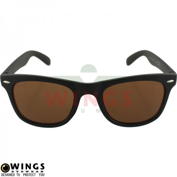 Zonnebril Wayfarer black / brown lens